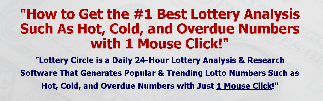 LOTTERY CIRCLE! Lottery Analysis Software