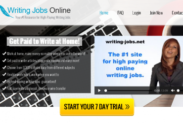 """Get Paid to Write at Home!"""